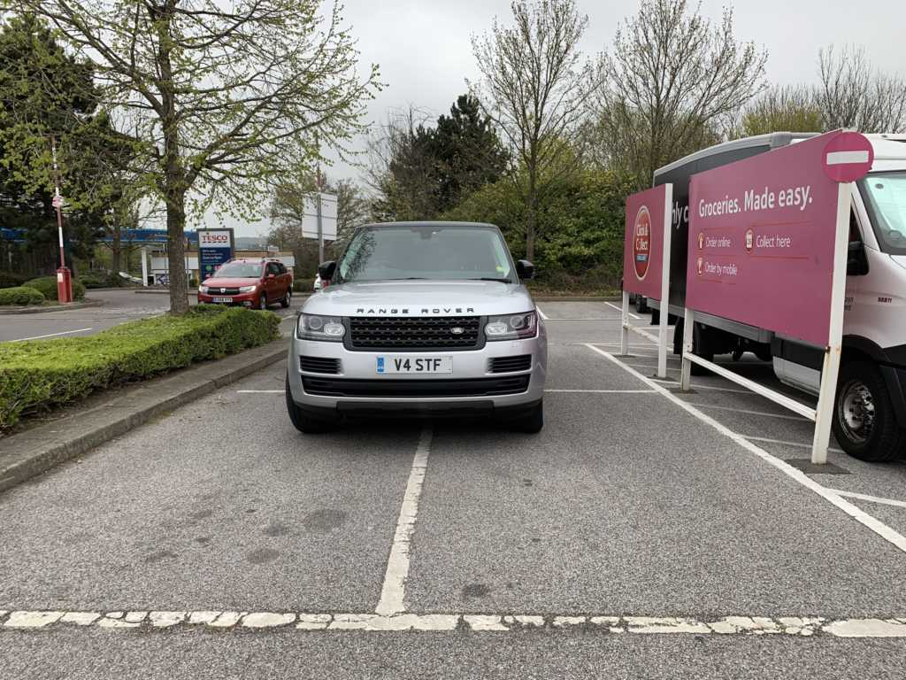 V4 STF displaying Inconsiderate Parking