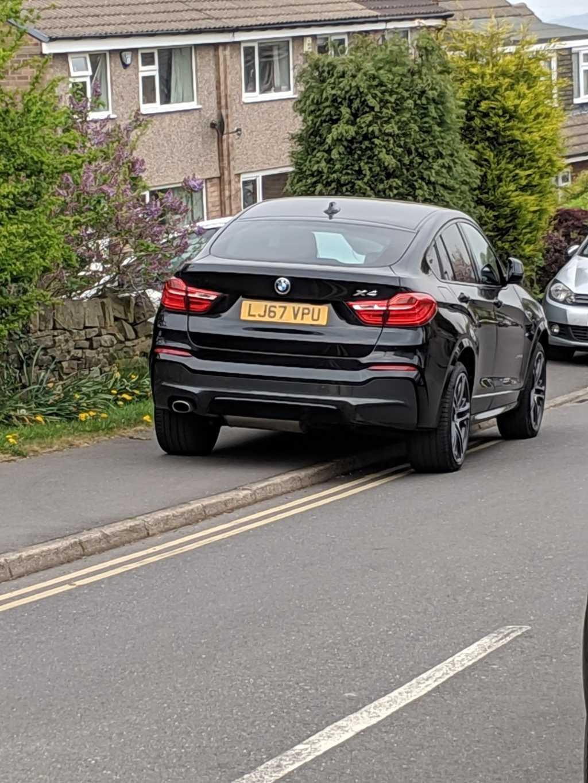 LJ67 VPU displaying Inconsiderate Parking