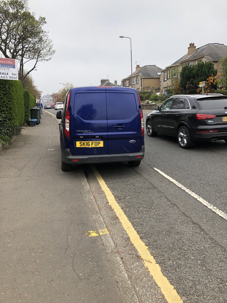 SK16 FOP displaying Inconsiderate Parking