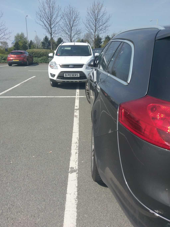 B P03ERS displaying Inconsiderate Parking