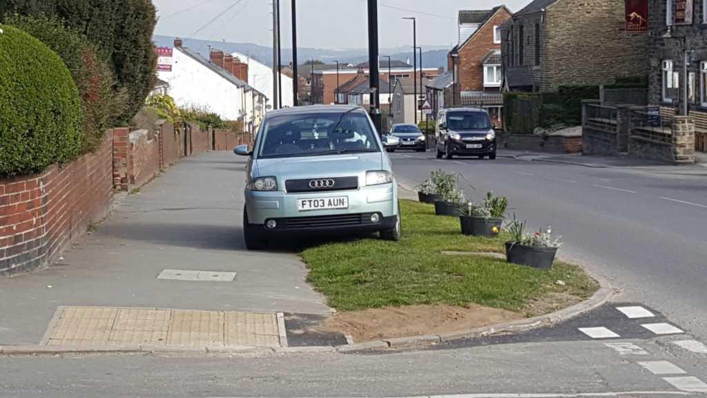 FT03 AUN displaying Inconsiderate Parking