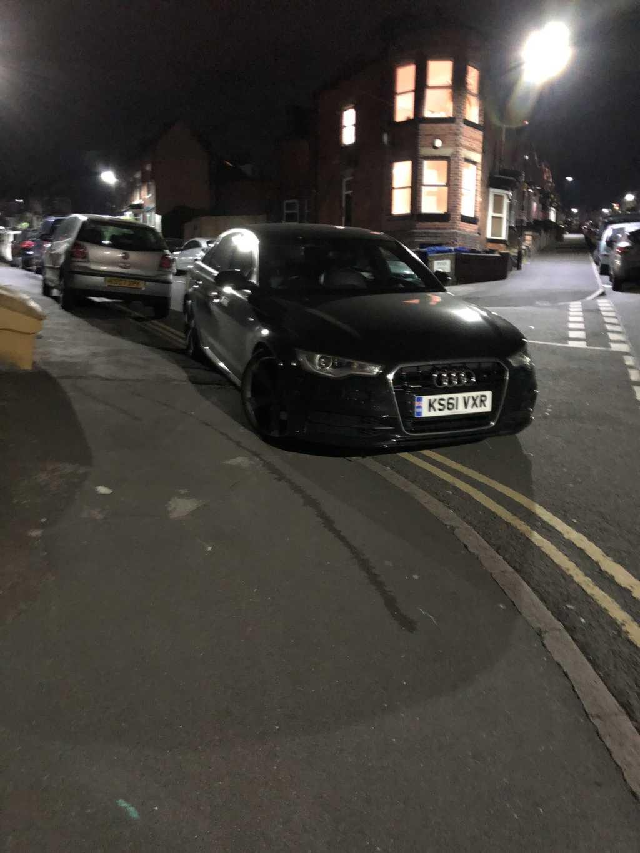 KS61 VXR displaying Selfish Parking