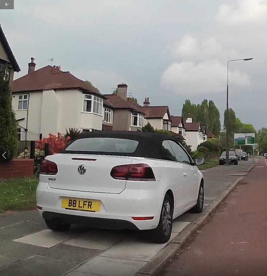 B8 LFR displaying Inconsiderate Parking