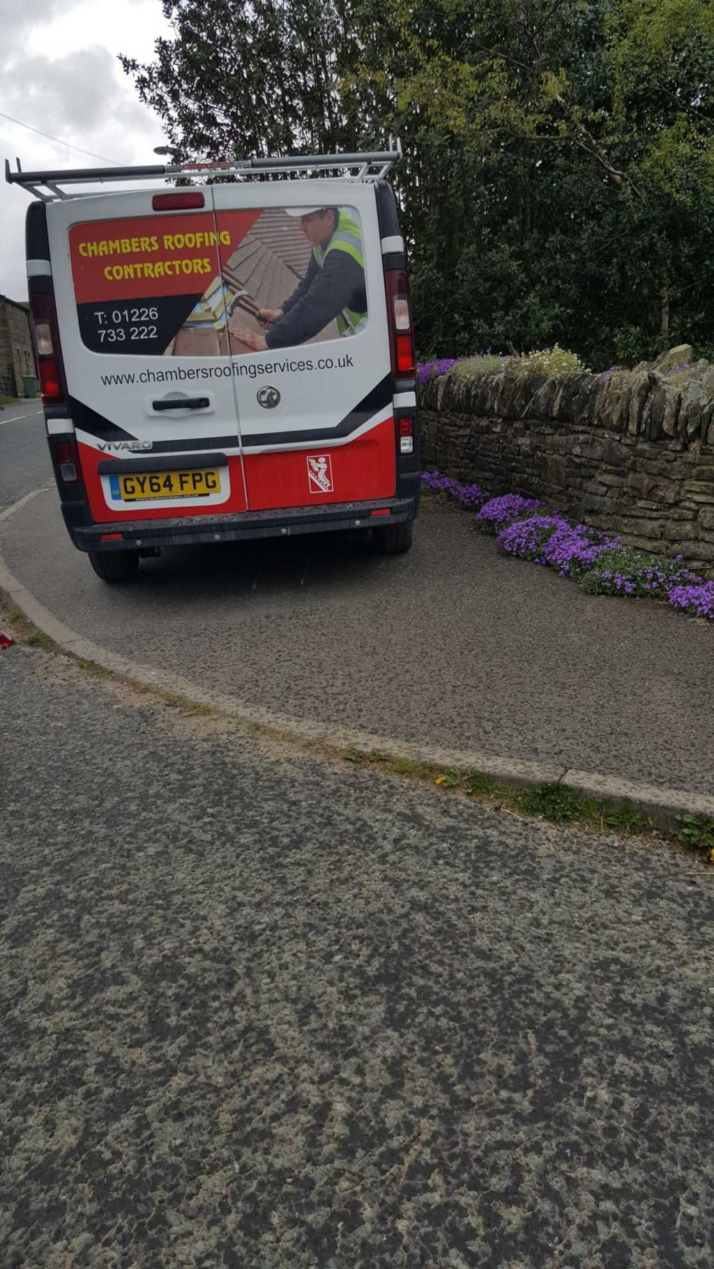 GY64 FPG displaying Inconsiderate Parking