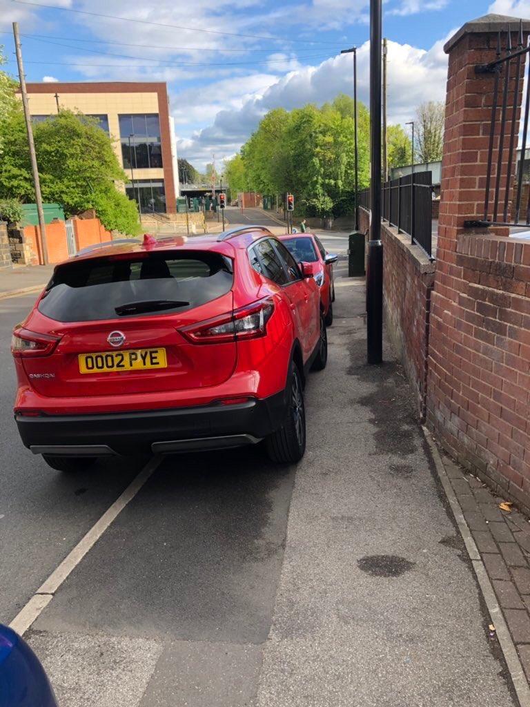 0002 PYE displaying Selfish Parking
