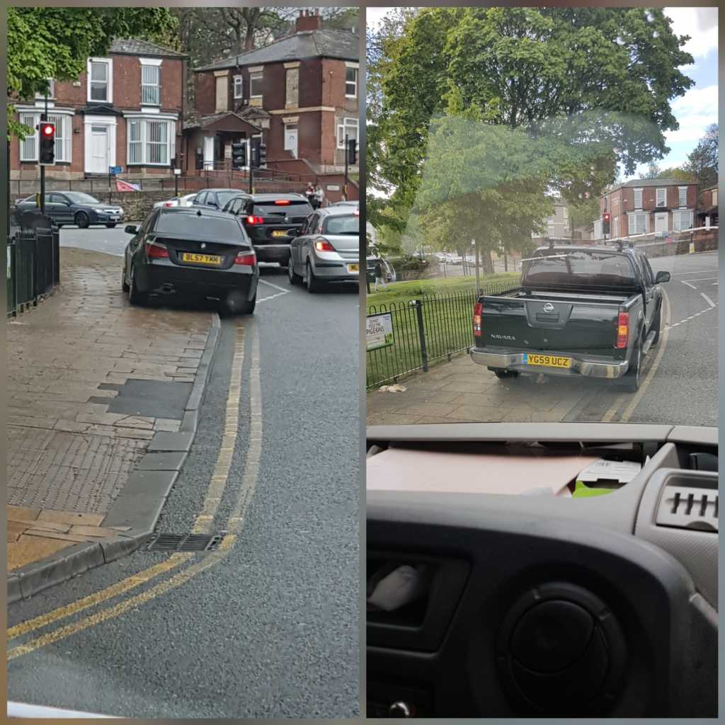 BL57 TMM & YG59 UCZ displaying Selfish Parking