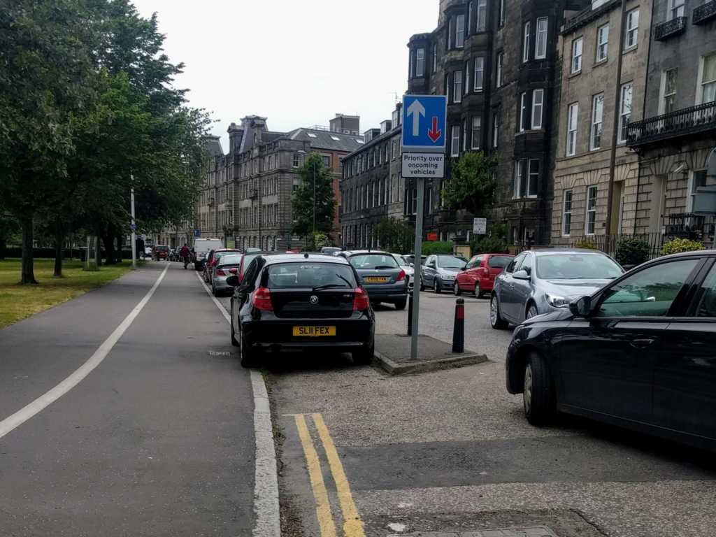 SL11 FEX displaying Inconsiderate Parking