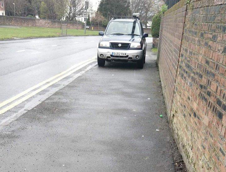 DJ02 RAW displaying Inconsiderate Parking