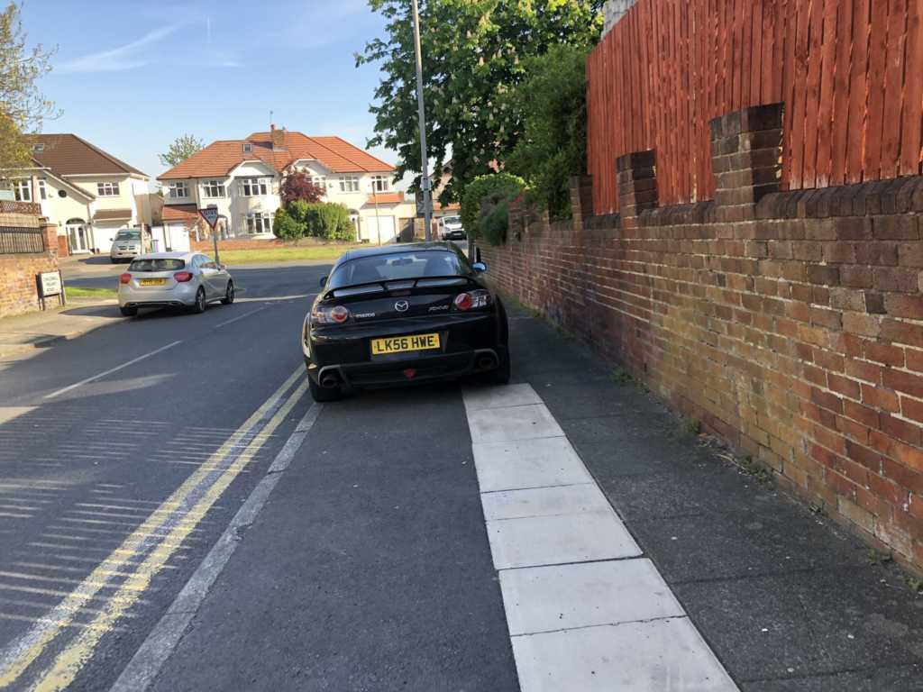 LK56 HWE displaying Selfish Parking