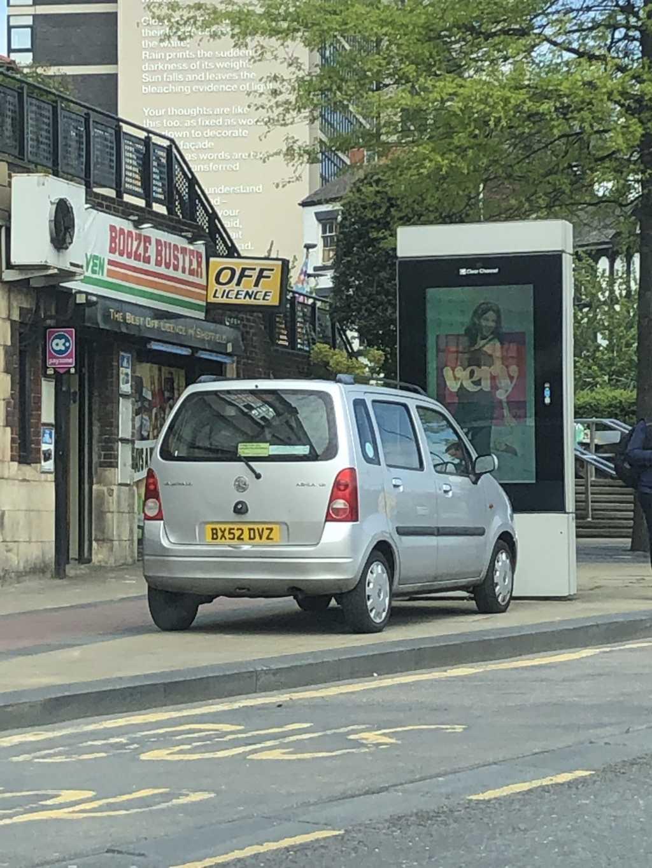 BX52 DVZ displaying Selfish Parking
