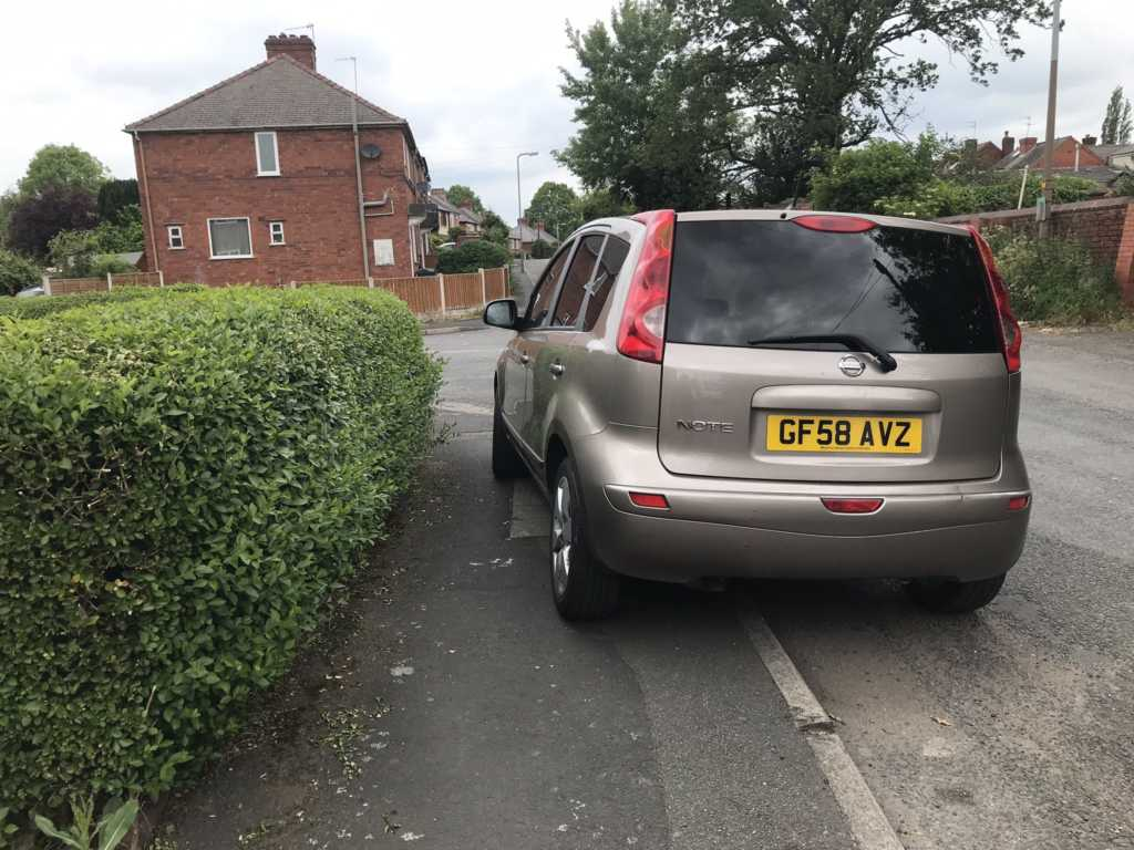 GF58 AVZ is an Inconsiderate Parker