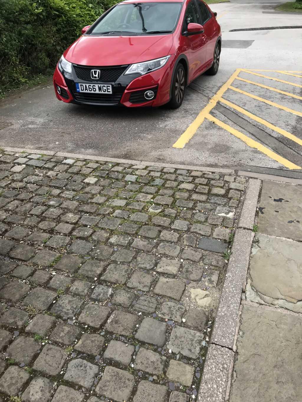 DA66 WGE. displaying Inconsiderate Parking
