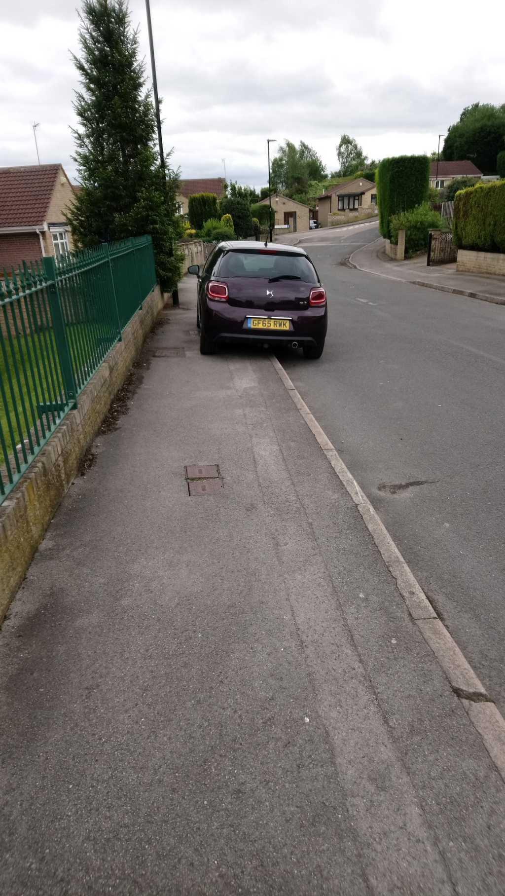 GF65 RWK displaying crap parking
