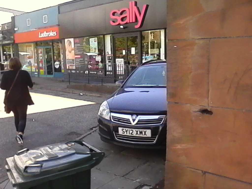 SY12 XMX displaying Selfish Parking