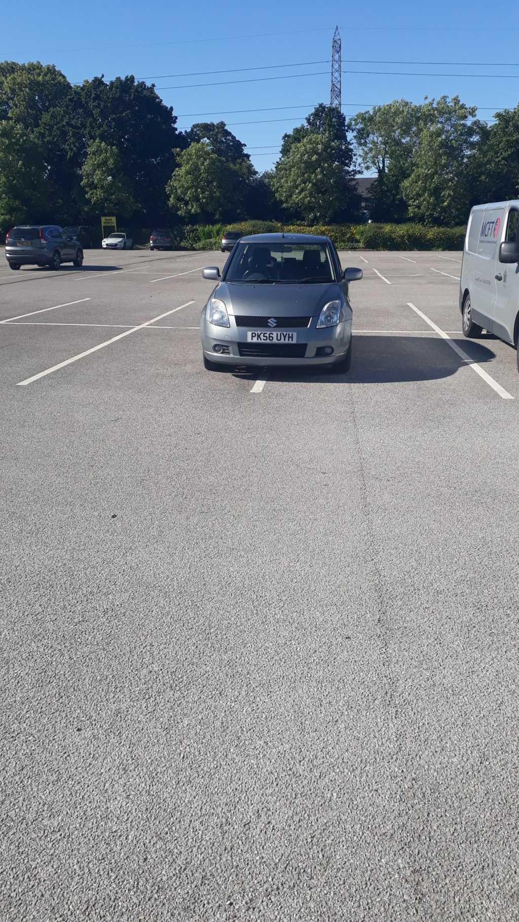 PK56 UYH displaying crap parking