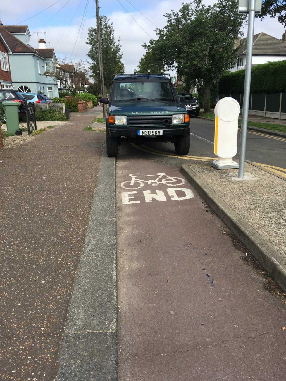 M30 SKM displaying Selfish Parking