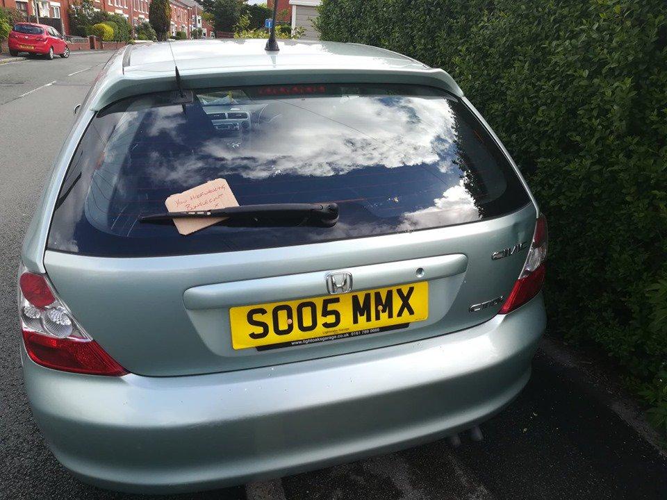 SO05 MMX displaying crap parking