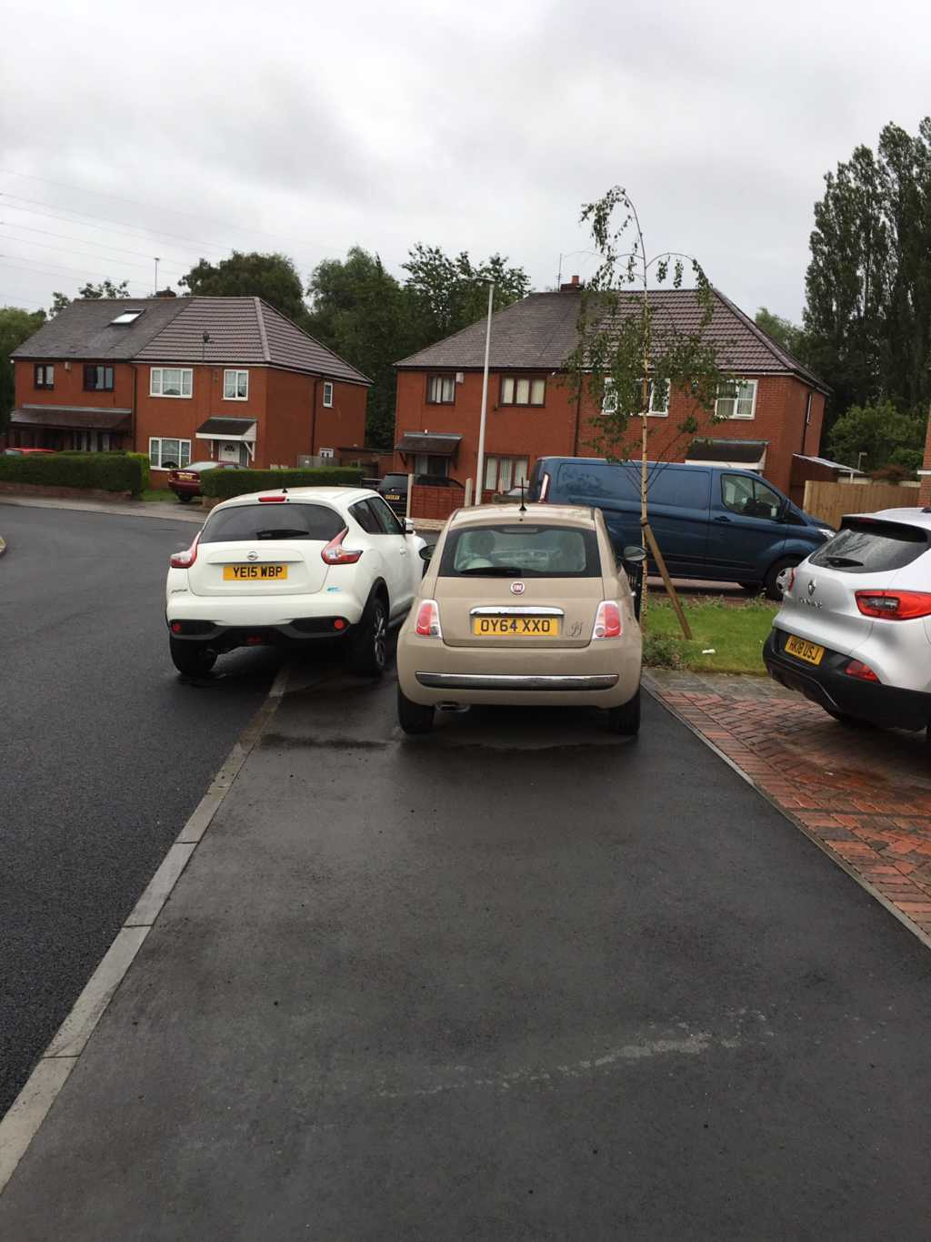 YE15 WBP displaying Inconsiderate Parking