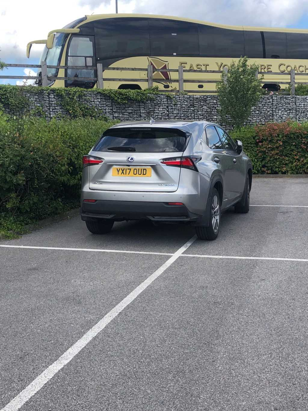 YX17 OUD displaying Inconsiderate Parking
