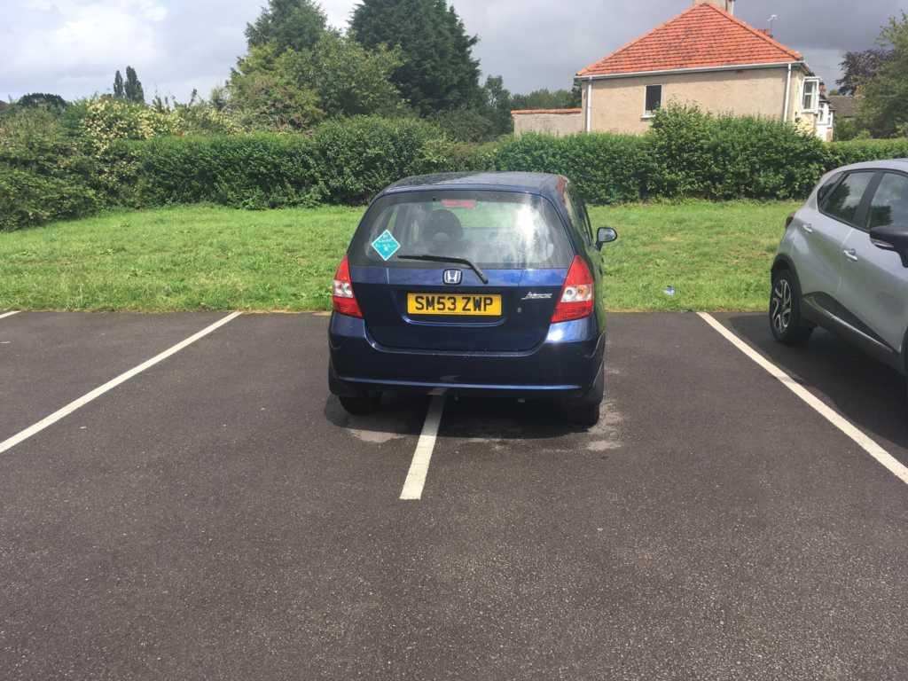 SM53 ZWP displaying Selfish Parking