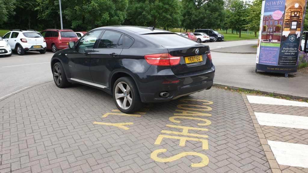 YE11 FEU displaying Inconsiderate Parking