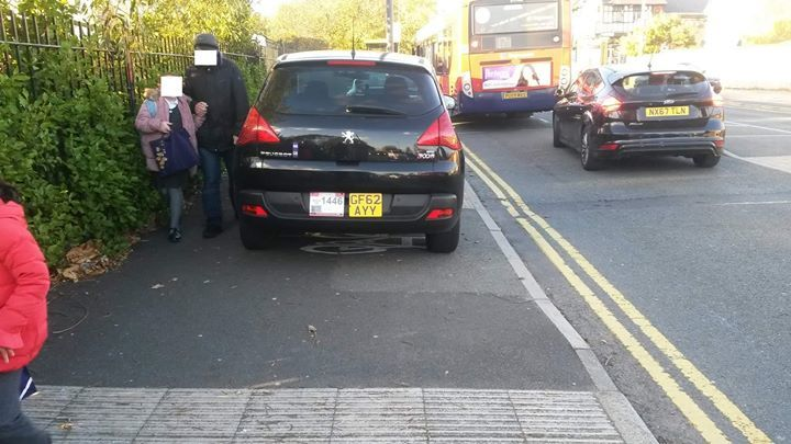 GF62 AYY displaying Inconsiderate Parking