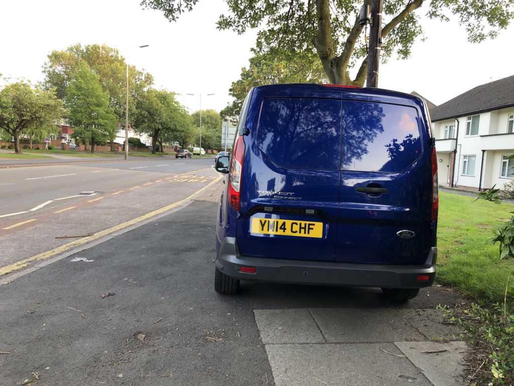 YM14 CHF displaying Selfish Parking