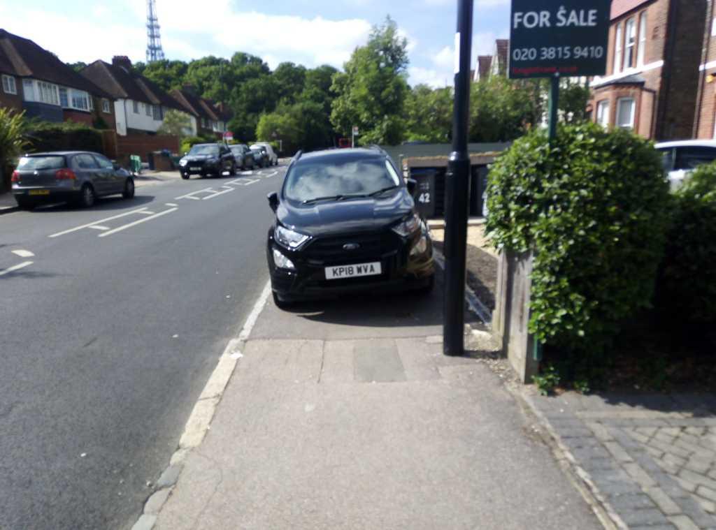 KP18 WVA displaying Inconsiderate Parking