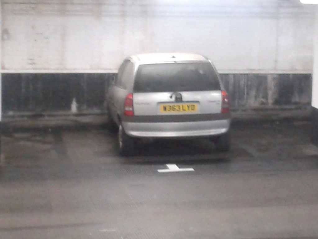 W363 LYD displaying Inconsiderate Parking