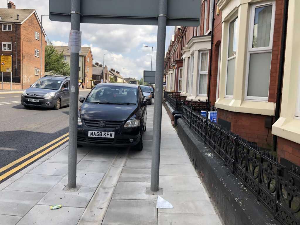 MA58 KFW displaying Selfish Parking