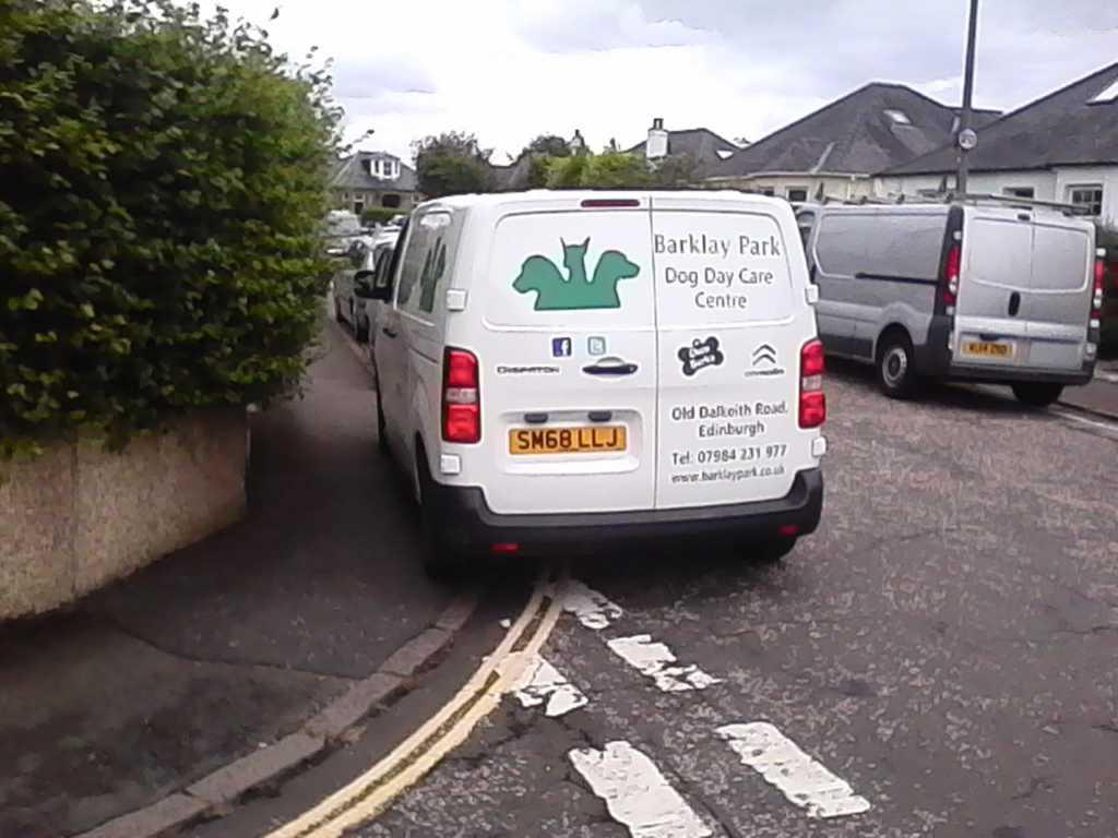 SM68 LLJ displaying Inconsiderate Parking