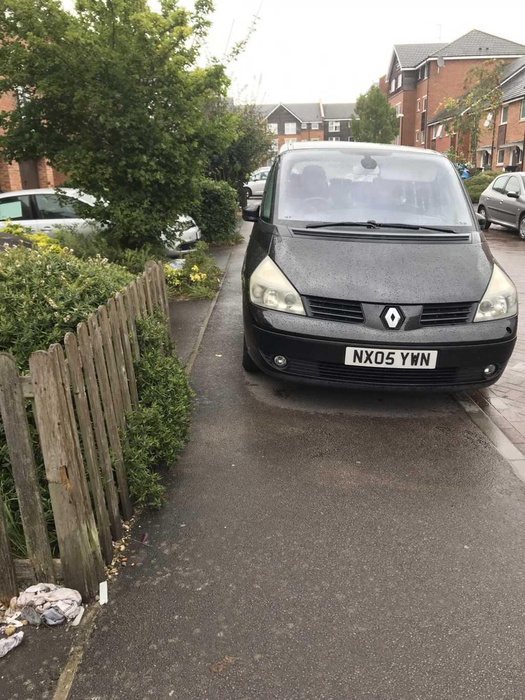 NX05 YWN displaying Selfish Parking