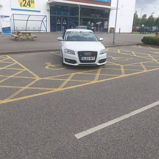 GL62 HFF displaying Selfish Parking