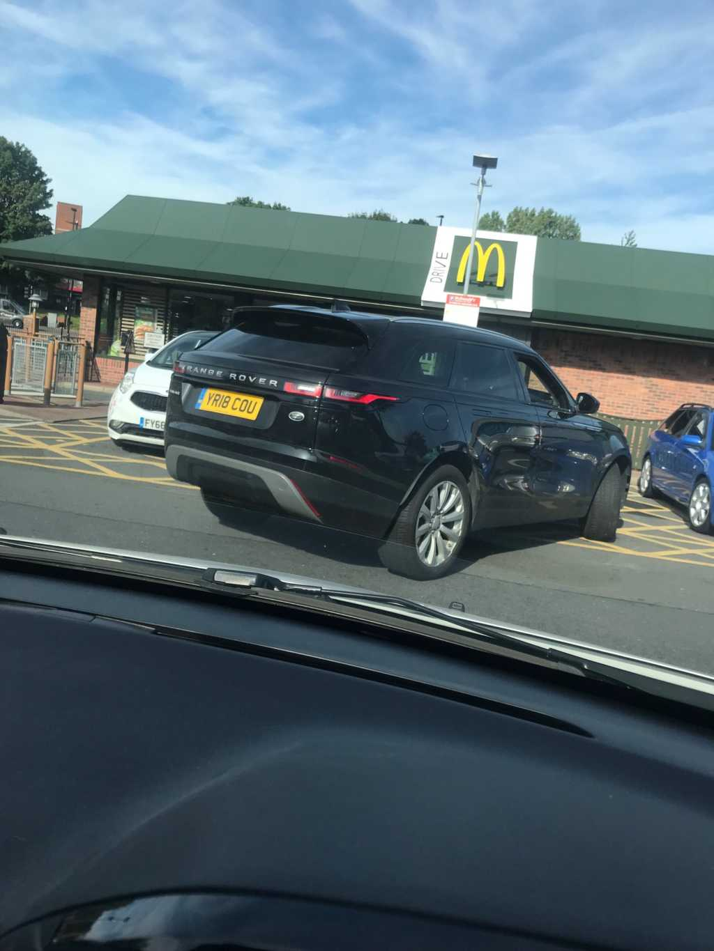 YR18 COU displaying Inconsiderate Parking