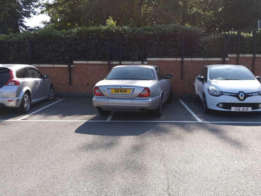 S8 MAK displaying Selfish Parking