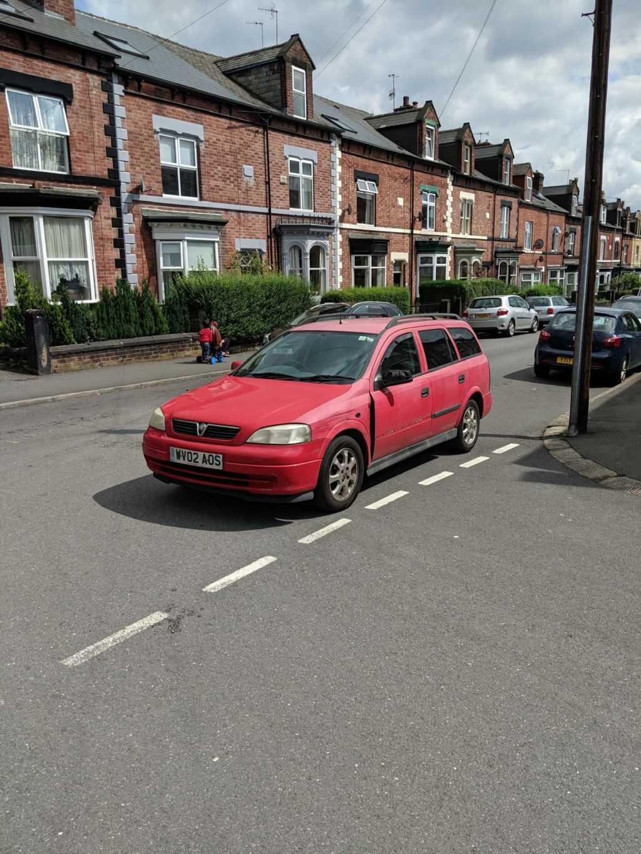WV02 AOS displaying Inconsiderate Parking