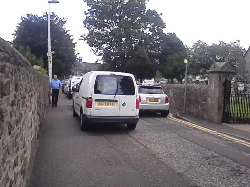SL17 KVT displaying Inconsiderate Parking