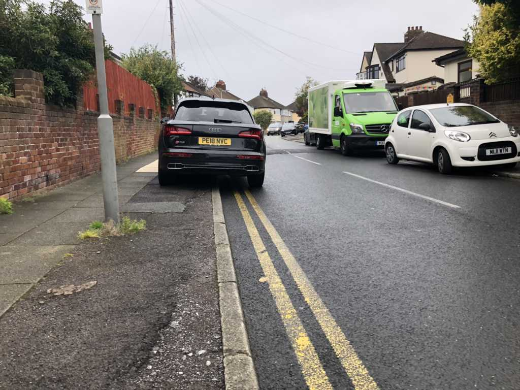 PE18 NVC displaying Inconsiderate Parking