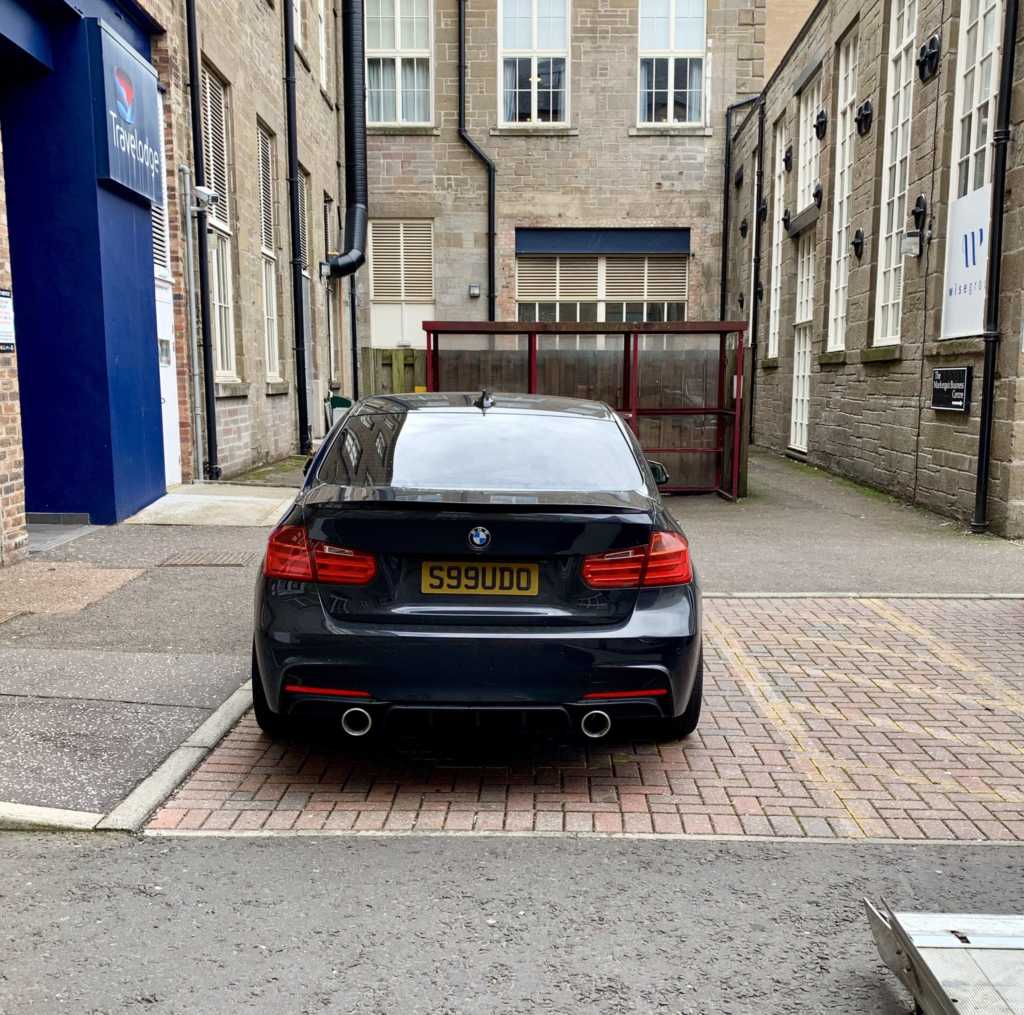 S99UDO displaying Inconsiderate Parking