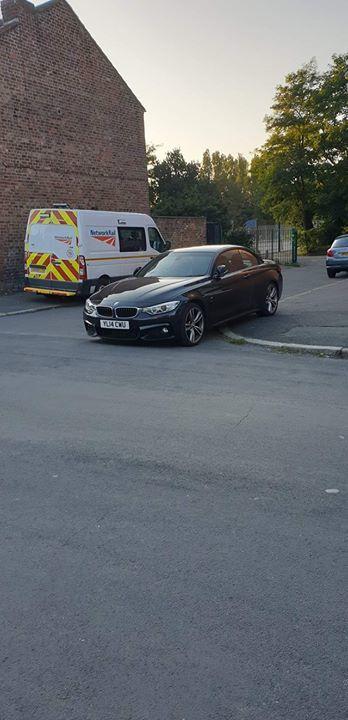 YU14 CWU displaying Selfish Parking