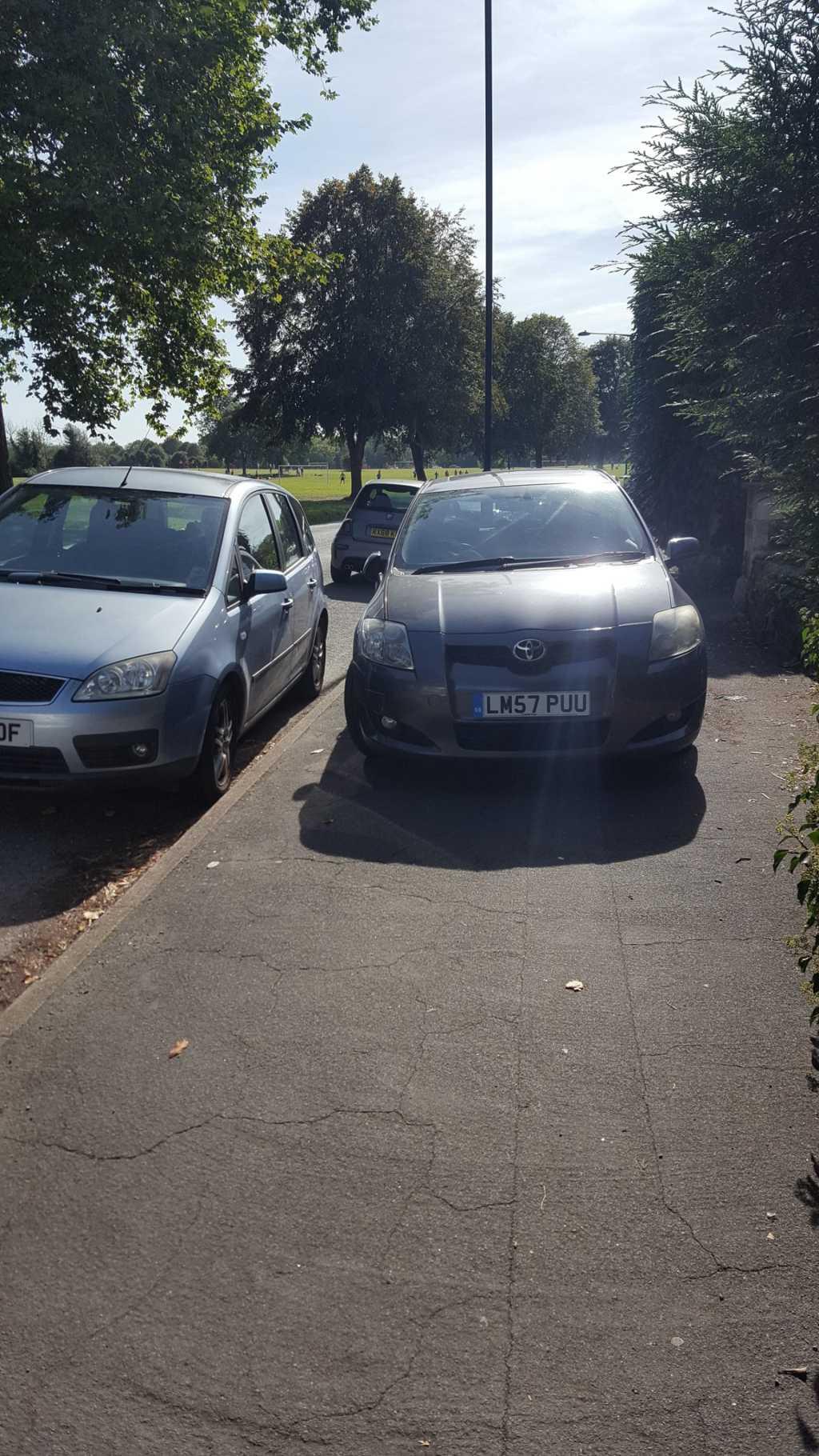 LM57 PUU displaying Selfish Parking