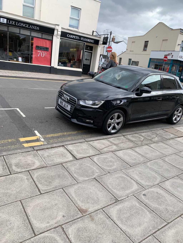 R15 JLY displaying Inconsiderate Parking