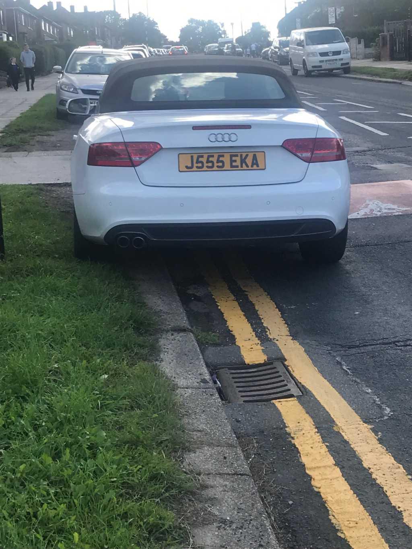 J555 EKA displaying Selfish Parking