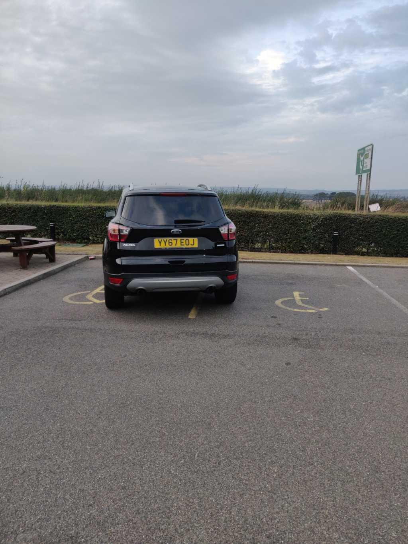 YY67 EOJ displaying Inconsiderate Parking