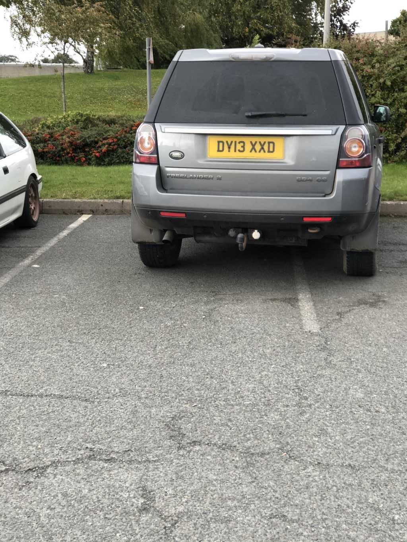 DU13 XXD displaying Selfish Parking