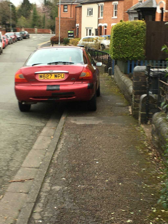 W627 WPU displaying Inconsiderate Parking