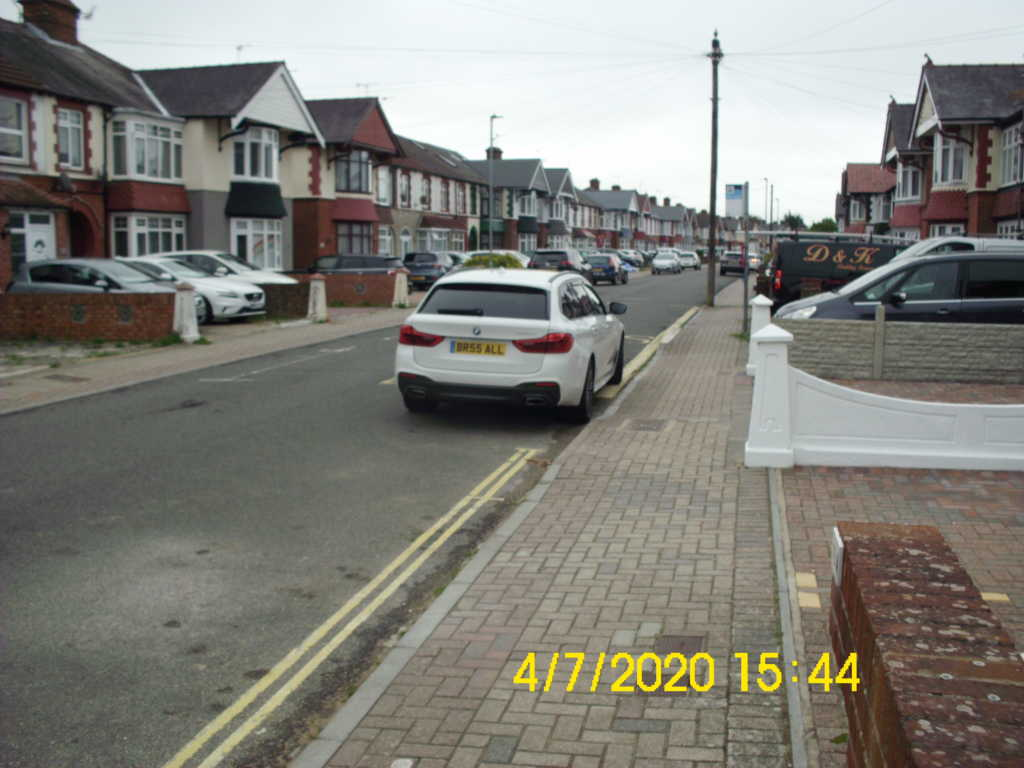 BR55 ALL displaying Inconsiderate Parking